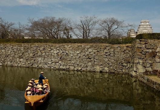 Turisti al Castello di Himeji